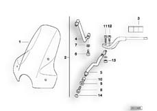 Goto diagram: BMW Classic Motorrad Modell R 1100 R 94 (0402,0407)( USA ), Category 46.63 Windshield facelift :: Diagram: 46_0373
