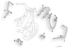 Goto diagram: BMW Classic Motorrad Modell R 1100 R 94 (0402,0407)( USA ), Category 46.70 Protection bar front,chrome, authorities :: Diagram: 46_0374