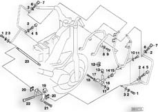 Goto diagram: BMW Classic Motorrad Modell R 1100 R 94 (0402,0407)( USA ), Category 46.70 Protection bar,mountng parts,authorities :: Diagram: 46_0375