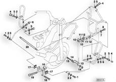 Goto diagram: BMW Classic Motorbike Model R 1150 RT 00 (0419,0499)( USA ), Category 46.70 MOUNTING PARTS F PROTECTION BAR :: Diagram: 46_0377