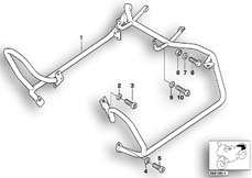 Goto diagram: BMW Classic Motorrad Modell R 1100 R 94 (0402,0407)( USA ), Category 46.70 Protect.bar rear,mntng parts,authorities :: Diagram: 46_0378