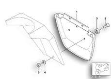 Goto diagram: BMW Classic Motorbike Model R 1150 RT 00 (0419,0499)( ECE ), Category 46.62 Mudguard, rear, large :: Diagram: 46_0380
