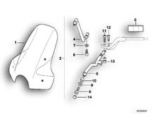 Goto diagram: BMW Classic Motorrad Modell R 1100 R 94 (0402,0407)( USA ), Category 46.63 Windscreen :: Diagram: 46_0388