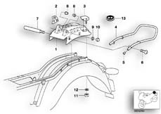 Goto diagram: BMW Classic Motorbike Model R 1200 C Indep. 03 (0362,0391)( USA ), Category 46.51 Rear carrier part :: Diagram: 46_0392