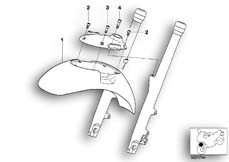 Goto diagram: BMW Classic Motorbike Model R 1200 C Indep. 00 (0405,0433)( ECE ), Category 46.61 Mudguard front :: Diagram: 46_0395