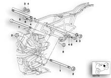 Goto diagram: BMW Classic Motorbike Model R 1200 C Indep. 00 (0405,0433)( ECE ), Category 46.51 Engine Suspension :: Diagram: 46_0396