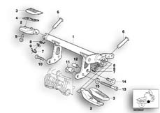 Goto diagram: BMW Classic Motorbike Model R 1200 C Indep. 00 (0405,0433)( ECE ), Category 46.71 Footpeg system :: Diagram: 46_0400
