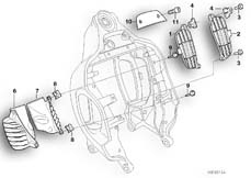 Goto diagram: BMW Classic Motorbike Model R 1200 C 97 (0424,0434)( USA ), Category 46.51 Frame front section/mounting parts :: Diagram: 46_0404