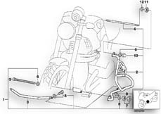 Goto diagram: BMW Classic Motorbike Model R 1200 C Indep. 00 (0405,0433)( ECE ), Category 46.70 Safety bar :: Diagram: 46_0406