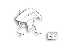 Goto diagram: BMW Classic Motorrad Modell R 1150 R Rockster (0308,0318)( ECE ), Category 46.61 Mudguard front :: Diagram: 46_0439