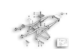 Goto diagram: BMW Classic Motorbike Model R 1100 GS 94 (0404,0409)( USA ), Category 46.51 Rear frame :: Diagram: 46_0455