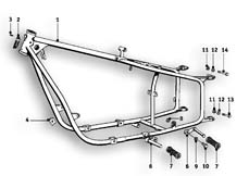 Goto diagram: BMW Classic Motorrad Modell R25/3( ECE ), Category 46.05 FRONT FRAME :: Diagram: 46_0479