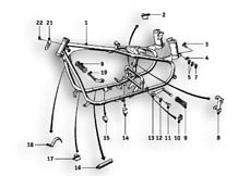 Goto diagram: BMW Classic Motorrad Modell R26( ECE ), Category 46.05 FRONT FRAME :: Diagram: 46_0481