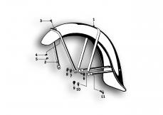 Goto diagram: BMW Classic Motorrad Modell R25/3( ECE ), Category 46.25 Mudguard front :: Diagram: 46_0483
