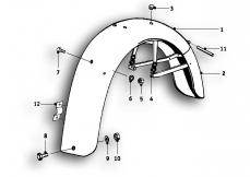 Goto diagram: BMW Classic Motorbike Model R51/2( ECE ), Category 46.30 REAR MUDGUARD MOUNTING PARTS :: Diagram: 46_0484