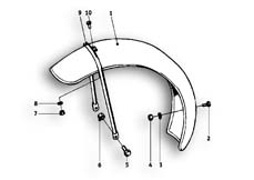 Goto diagram: BMW Classic Motorrad Modell R26( ECE ), Category 46.25 Mudguard front :: Diagram: 46_0485