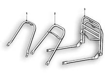 Goto diagram: BMW Classic Motorrad Modell R69 S( ECE ), Category 46.20 SET CASE HOLDER :: Diagram: 46_0488