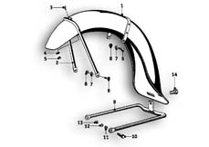 Goto diagram: BMW Classic Motorbike Model R51/2( ECE ), Category 46.25 Mudguard front :: Diagram: 46_0509