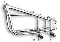 Goto diagram: BMW Classic Motorbike Model R51/2( ECE ), Category 46.05 FRONT FRAME :: Diagram: 46_0510