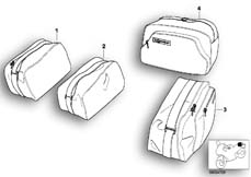 Goto diagram: BMW Classic Motorbike Model K 1200 LT 99 (0545,0555)( ECE ), Category 46.54 Interior bag f top case and case :: Diagram: 46_0531