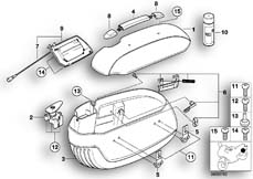 Goto diagram: BMW Classic Motorbike Model R 1200 C Indep. 00 (0405,0433)( ECE ), Category 46.54 Saddle bag, single parts :: Diagram: 46_0538