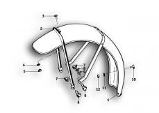 Goto diagram: BMW Classic Motorrad Modell R69 S( ECE ), Category 46.25 Front wheel mudguard :: Diagram: 46_0550