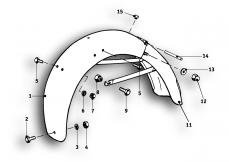 Goto diagram: BMW Classic Motorrad Modell R69 S( ECE ), Category 46.30 Rear wheel protection plate :: Diagram: 46_0551