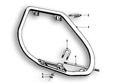 Goto diagram: BMW Classic Motorrad Modell R69 S( ECE ), Category 46.70 Safety bar :: Diagram: 46_0552