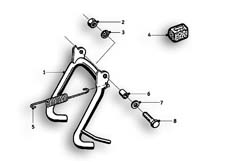 Goto diagram: BMW Classic Motorrad Modell R69 S( ECE ), Category 46.10 Centre stand :: Diagram: 46_0556