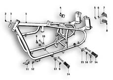 Goto diagram: BMW Classic Motorbike Model R69 S( ECE ), Category 46.05 motorcycle frame :: Diagram: 46_0557