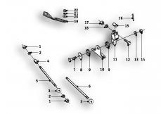 Goto diagram: BMW Classic Motorbike Model R69 S( ECE ), Category 46.60 Engine Suspension :: Diagram: 46_0558