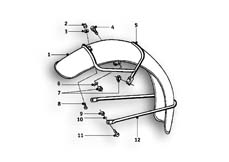 Goto diagram: BMW Classic Motorbike Model R69 S( USA ), Category 46.25 Front wheel mudguard :: Diagram: 46_0560