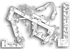 Goto diagram: BMW Classic Motorbike Model G 650 GS 09 (0178,0179)( ECE ), Category 46.51 Frame :: Diagram: 46_0561