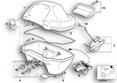 Goto diagram: BMW Classic Motorbike Model R 1150 RT 00 (0419,0499)( USA ), Category 46.63 Top case, single parts :: Diagram: 46_0566