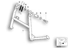 Goto diagram: BMW Classic Motorbike Model G 650 GS 09 (0178,0179)( ECE ), Category 46.52 Centre stand :: Diagram: 46_0572