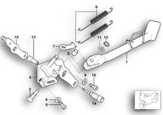 Goto diagram: BMW Classic Motorbike Model R 1150 GS Adv. 01 (0441,0492)( USA ), Category 46.53 SIDE STAND :: Diagram: 46_0577