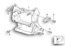 Goto diagram: BMW Classic Motorbike Model R 1150 GS Adv. 01 (0441,0492)( USA ), Category 46.63 Front panel carrier :: Diagram: 46_0603
