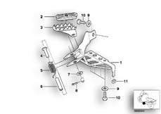 Goto diagram: BMW Classic Motorbike Model G 650 GS 09 (0178,0179)( ECE ), Category 46.71 FOOTPEG PLATE/FRONT FOOTPEG :: Diagram: 46_0612
