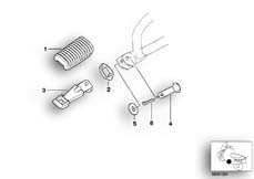 Goto diagram: BMW Classic Motorbike Model G 650 GS 09 (0178,0179)( ECE ), Category 46.71 Rear footrests :: Diagram: 46_0613