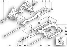 Goto diagram: BMW Classic Motorrad Modell C1 (0191)( ECE ), Category 46.51 Mounting, engine-gearbox unit :: Diagram: 46_0628