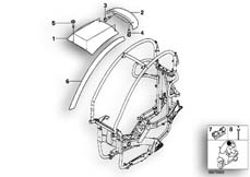 Goto diagram: BMW Classic Motorrad Modell C1 (0191)( ECE ), Category 46.63 Roof, mounting parts :: Diagram: 46_0655