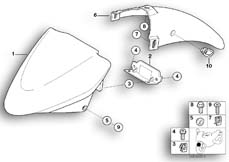 Goto diagram: BMW Classic Motorrad Modell R 1150 R 01 (0429,0439)( USA ), Category 46.61 Front wheel mudguard :: Diagram: 46_0695