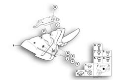 Goto diagram: BMW Classic Motorrad Modell R 1150 R 01 (0429,0439)( USA ), Category 46.63 Air duct, oil cooler :: Diagram: 46_0698