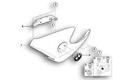 Goto diagram: BMW Classic Motorrad Modell R 1150 R 01 (0429,0439)( USA ), Category 46.63 Oil cooler cover, primed/mounting parts :: Diagram: 46_0699