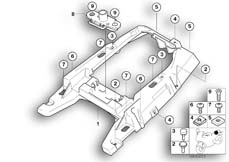 Goto diagram: BMW Classic Motorrad Modell R 1150 R 01 (0429,0439)( USA ), Category 46.62 Rear carrier part :: Diagram: 46_0700