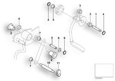 Goto diagram: BMW Classic Motorrad Modell C1 (0191)( ECE ), Category 46.52 Knee lever mechanism - lever mounting :: Diagram: 46_0717