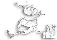 Goto diagram: BMW Classic Motorbike Model R 1150 RT 00 (0419,0499)( USA ), Category 46.63 Trim panel, upper part :: Diagram: 46_0722