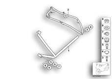 Goto diagram: BMW Classic Motorrad Modell R 1100 R 94 (0402,0407)( ECE ), Category 46.70 Protective bar, rear, 3-piece :: Diagram: 46_0727