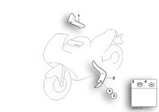 Goto diagram: BMW Classic Motorbike Model K 1200 RS 01 (0547,0557)( ECE ), Category 46.63 Weather protection, authorities :: Diagram: 46_0752