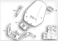 Goto diagram: BMW Classic Motorrad Modell R 1150 RS 01 (0447,0498)( USA ), Category 46.63 Windscreen, high :: Diagram: 46_0753